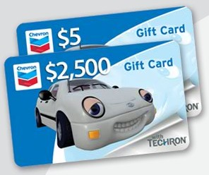 Free 5 gas card from chevron free thingy sign up and answer 3 easy questions about gas mileage tips the answers are b b a and you can receive a free gas card worth either 5 or negle Choice Image